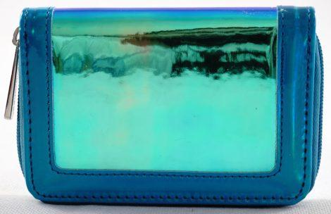 David Jones női pénztárca, fémesen fénylő, kék