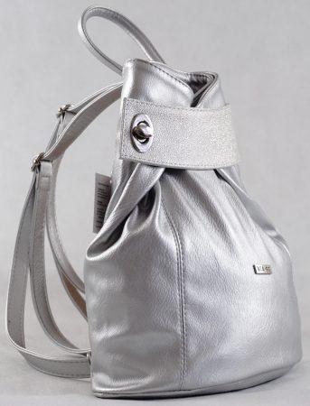 VIA55 hátitáska ezüst színben, rostbőr