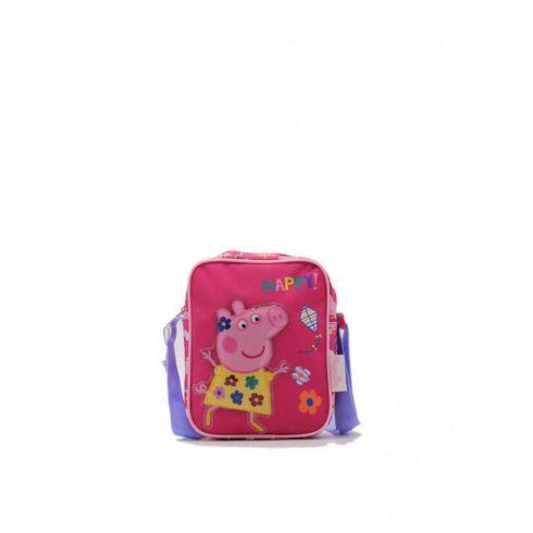 Gyermek válltáska, Pappa Pig, poliészter, rózsaszín