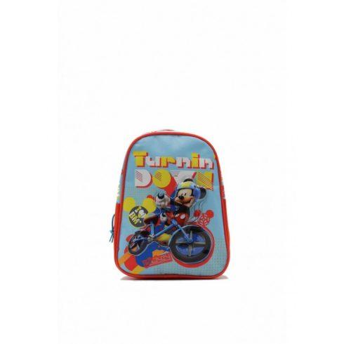 Kisméretű gyerekhátizsák, Mickey Mouse, poliészter, kék/piros