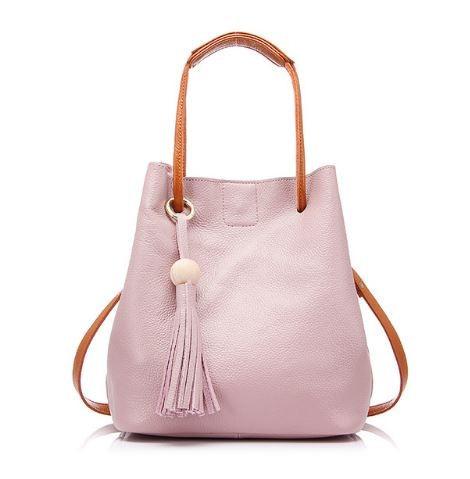 2c35821bd3 Bogyós női válltáska, bőr, rózsaszín - Divatos táskák azonnal ...