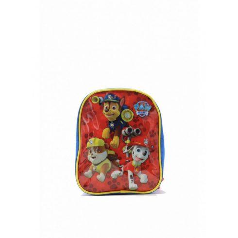 Kisméretű gyerekhátizsák, Mancs őrjárat, poliészter, piros/kék