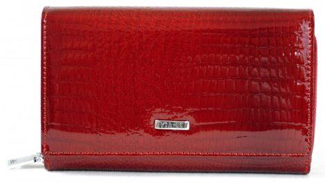 VIA-55 női pénztárca, piros, bőr