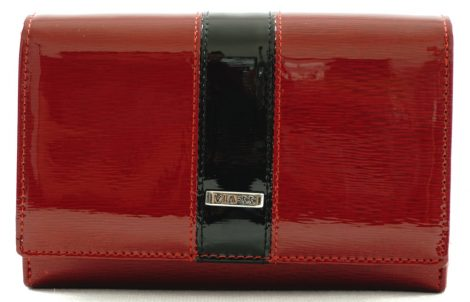 VIA55 női lakk pénztárca, vörös