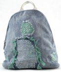 Velina Fabbiano farmer hátitáska csillogó strasszokkal, zöld