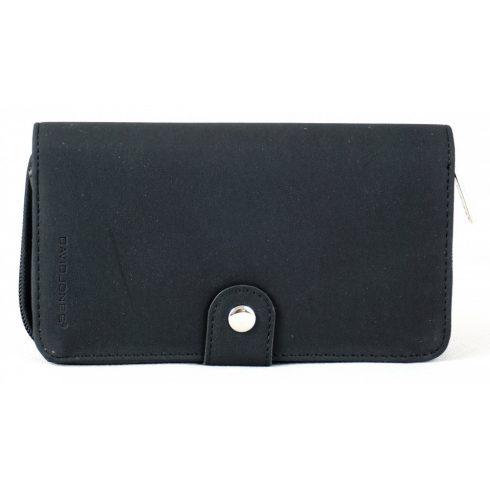 David Jones cipzáras pénztárca, velúr, fekete