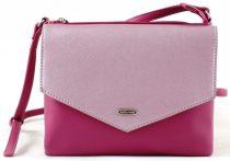 David Jones keresztpántos táska, két rekeszes, sötét rózsaszín