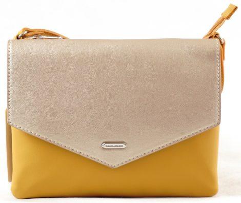 David Jones keresztpántos táska, két rekeszes, citromsárga