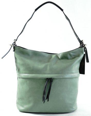 Egyszerű női válltáska állítható pánttal, műbőr, zöld