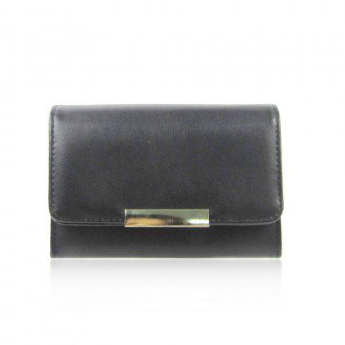 Női pénztárca, műbőr, fekete