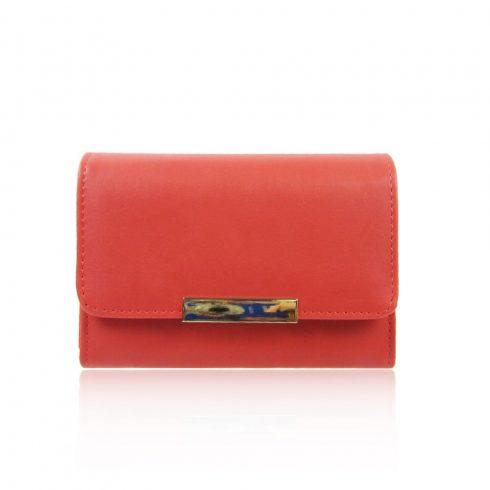 Női pénztárca, műbőr, narancs