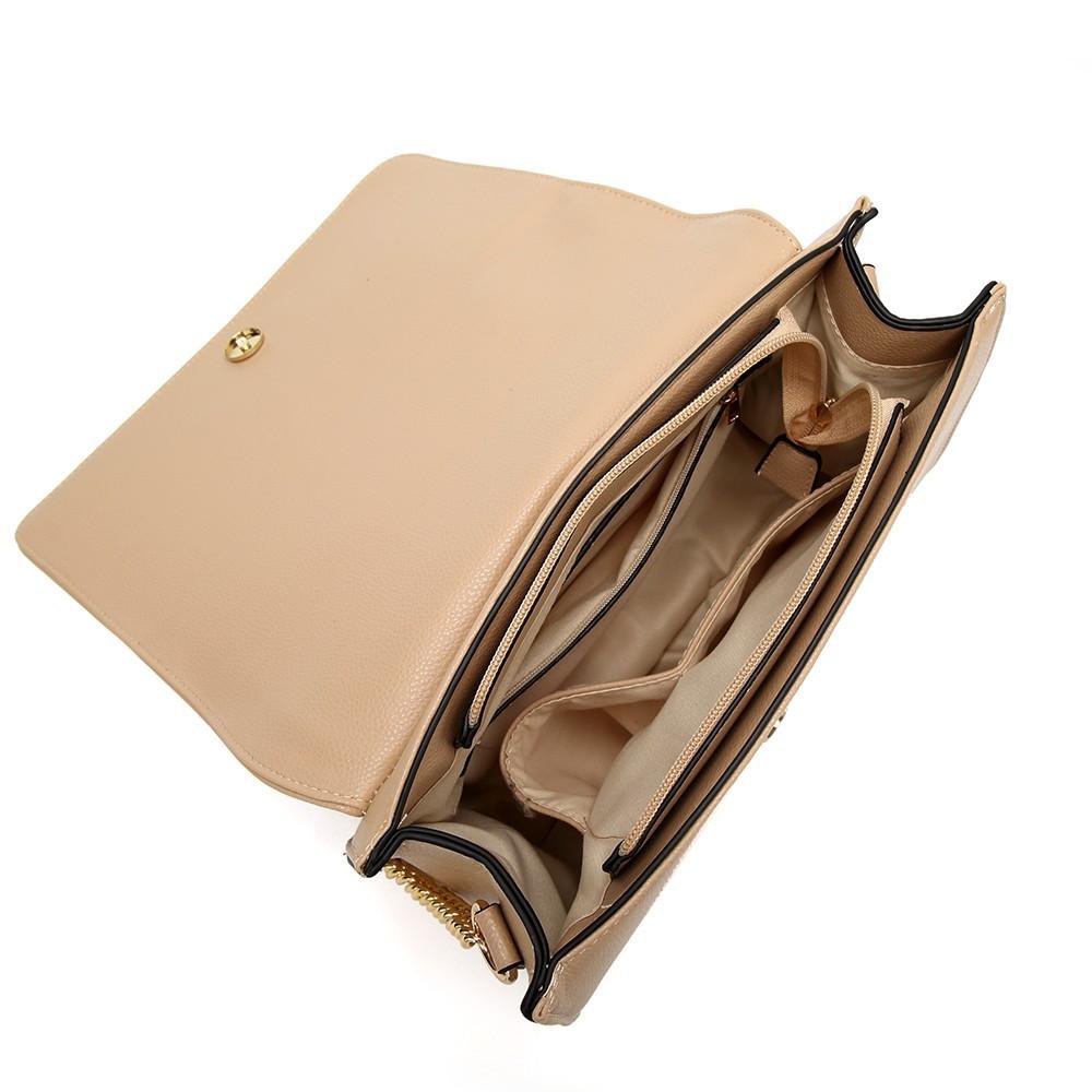 fa0706e75c Aranyszínű rátétes női válltáska, műbőr, bézs - Divatos táskák ...