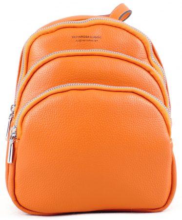 Silvia Rosa három rekeszes mini hátitáska, műbőr, narancssárga