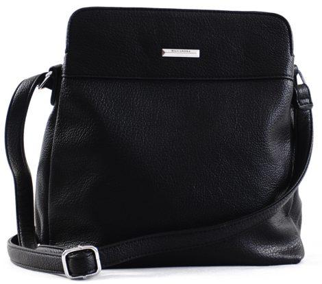 Silvia Rosa keresztpántos táska, rostbőr, fekete