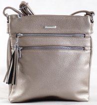 Silvia Rosa női keresztpántos táska, rostbőr, ezüst